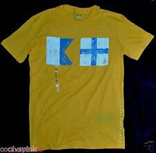 Armani Exchange T Shirt Yellow Muscle Fit S L M Mens Top NWT