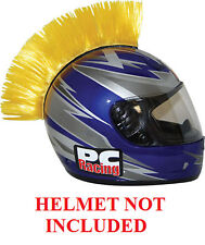 Helmet Yellow Mohawks PC Racing All Colors Interchangable Mohawk