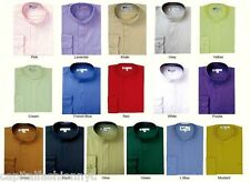 Mens Dress Shirt Mandarin Nehru Collar (Collarless) lots colors **SG01