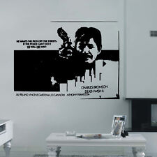 CHARLES BRONSON Wall art Stickers Decal Vinyl famous film actor