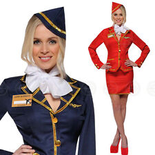 ★SEXY AIR HOSTESS★  FANCY DRESS OUTFIT COSTUME CABIN CREW HALLOWEEN ZOMBIE