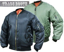 NEW MEN MA1 FLIGHT BOMBER PILOT MILITARY BIKER ARMY SECURITY DOORMAN JACKET