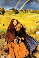 Blind Girl by Sir John Everett Millais Canvas Painting Picture Print Concertina
