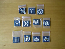 Royal Air Force RAF Rank Badge - Shoulder Slides LAC,SAC, SAC(T), WO, CT etc