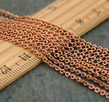 1.8mm Bronze Copper Silver Plated Brass Chain Knurled Link Cable Chain c48 (3ft)