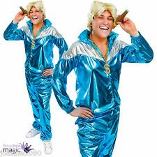 Mens Adult Retro 80s 90s Shell Suit Track Suit Chav Fancy Dress Costume Outfit