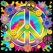 Neon Smiley Peace Sign Ladies T-Shirt