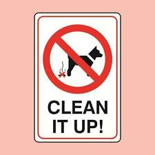 Warning Signs 150x200mm Clean It Up Dog Fouling Sign (0792)