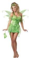 Womens Tinkerbell Fairy Sexy Adult Halloween Costume