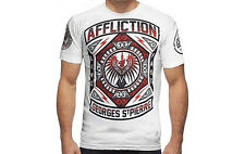 Affliction GSP Georges St. Pierre Prestige Shirt (White) - ufc 158 mma bjj