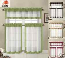 Hamilton™ 3 Piece Kitchen Curtain Set Available In 4 Colors