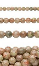 Lot of 10, 16 inch Long Strands of Round Autumn Jasper Natural Gemstone Beads