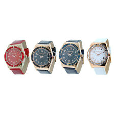 Women's Gossip Genuine Leather Watch with Crystal Bezel- Choice of Four Styles!