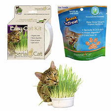 Imperial Cat Easy Grow Organic Oat Grass Kit or 4 oz Seed Package Made in USA