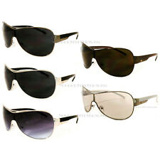 Khan Sports Shield New Mens Fashion Sunglasses Driving Biker Designer Black UV