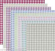 Clarke and Clarke Gingham Check Designer Curtain Upholstery Fabric