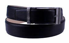 Stacy Adams 6-196 Leather Mens Adjustable Belt w/ Stacy Adams Engraved on Metal