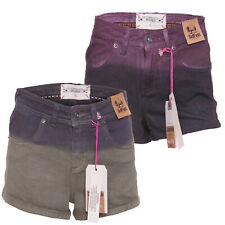 Ladies BELLFIELD DARLINGTON Two-Tone High Waisted Denim Shorts 8-10-12-14-16