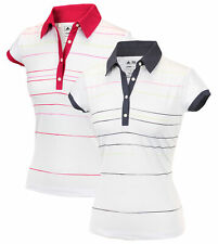 Adidas Taylormade Womens Climalite Painted Stripe Print Golf Polo Shirt