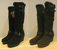 Khombu Ladies Womens Rainbow 2 Suede Thermolite Winter Boots - Size 4 5 6 7