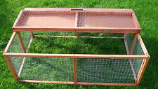 RABBIT GUINEA PIG SHELTERED RUN RUNS HUTCHES CAGE POULTRY KITTENS FOLDING LARGE