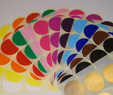 20mm 25mm Round Colour Code Dots Blank Price Stickers Sticky Labels