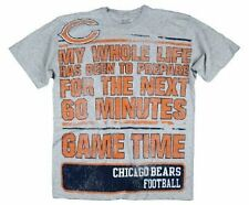 Reebok Chicago Bears NFL Football GAME TIME Mens NFL T-shirt, Gray