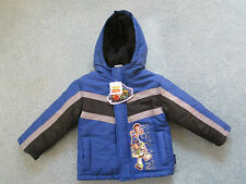 NEW Toddler Boys Boy Disney Toy Story Blue Black Gray Woody Buzz Lightyear Coat