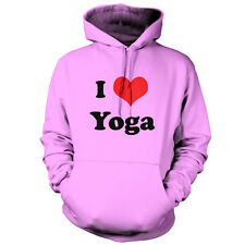 I Love Yoga - Unisex Hoodie -9 Colours - Free UK delivery - Exercise - Equipment