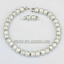 Fashion Noble Gorgeous 18KGP Tennis Bracelet CZ Rhinestone Crystal