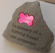 Personalized Pet Tag Memorial Monument Cemetery Grave Head Stone Bone Dog Cat