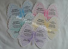 UNIQUE PERSONALIZED BUTTERFLY BABY SHOWER, BIRTHDAY PARTY CUSTOM INVITATIONS