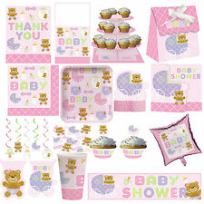 Pink Girl Teddy Baby Shower Decorations Party Supplies Girl all 17 items here