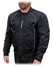 Textile Motorcycle Mens jacket, waterproof, body armor and Free size change, New