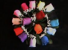 Pick your Color silk rose boutonniere,wedding,prom, groom,corsage