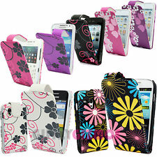 PRINTED DESIGN LEATHER MAGNETIC FLIP POUCH CASE COVER FOR VARIOUS MOBILE PHONES