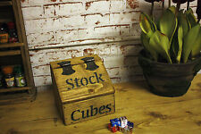 RUSTIC  LOOK ANTIQUE STYLE RECLAIMED TIMBER STOCK CUBE /BOX /OXO BOX