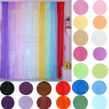 "New 1Pc 50"" x 84"" Sheer Voile Gradual Rainbow Window Panels Curtains 22Colors"