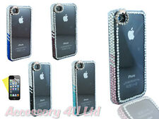 LUXURY 3D BOW DIAMOND BUMPER BLING CASE COVER FOR IPHONE4/4S/5+Screen Protector