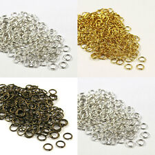 Bronze, Gold & SILVER PLATED Metal JUMP RINGS! 4,5,6,7,8,9,10mm