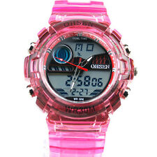 SH US OHSEN Mens Wrist Watch Fashion Digital Quartz Sport Date LED Waterproof