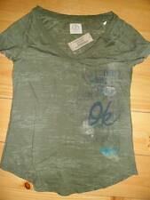 NWT AMERICAN EAGLE Graphic Vintage T Shirt V-neck Green