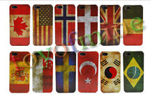 Classical Retro Multi National Flag Hard Case Cover Skin For Apple iphone 5 5S