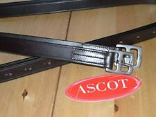 "Ascot Stirrup Leathers Stainless Steel Buckles 32""-60"" Black/Brown"