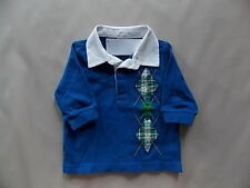 NWT Boy's Gymboree North Pole Express long sleeve polo shirt ~ 3 6 12 months 4T