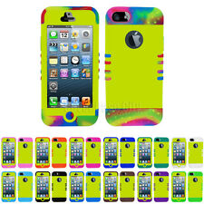 Glossy Pearl Yellow Hybrid Impact Hard Cover Case for Apple iPhone 5 Accessory