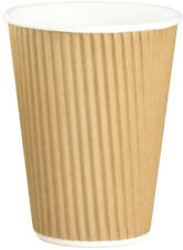 Disposable Insulated 3 Ply Paper Hot Drinks Cups Tea Coffee Espresso Cappuccino