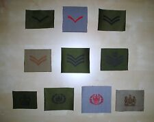 British Army Rank Badges - Various Old Style Sew On Temperate/Desert/Ward Dress