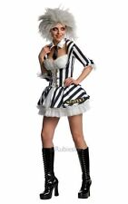 Adult Sexy Miss Beetlejuice Ladies Halloween Party Fancy Dress Costume Outfit