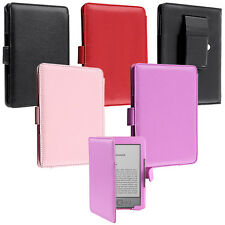 "Folio Leather Case Skin Cover Pouch For Amazon Kindle 4 6"" Inch e-Reader"